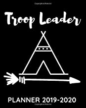Troop Leader Planner 2019-2020: Appreciation Organizer Gift for Scout Leaders to Organizing Camping Trips Group Meetings/Events Attendance and Snack Sales Tracker with Agenda