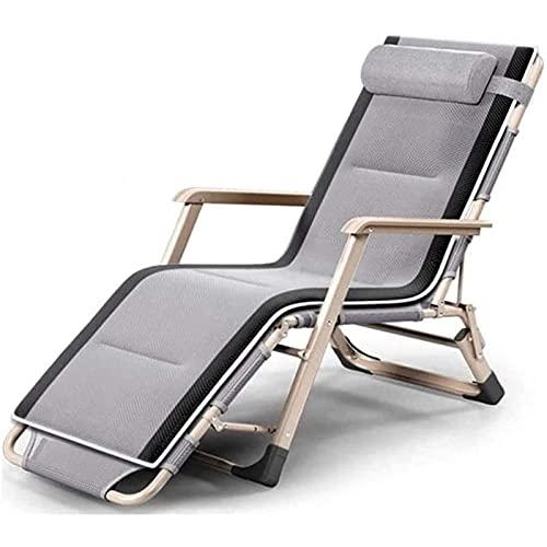 TabloKanvas Sillones reclinables, silla de playa, plegable, para el almuerzo, siesta, silla de ocio, plegable, (color: C, tamaño: 66 x 95 x 98)