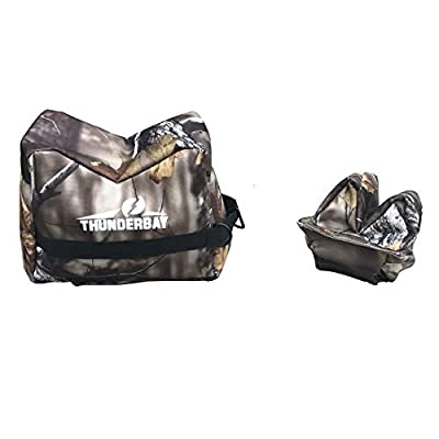 THUNDERBAY Combo Front and Rear Bag, Shooting Rest Bags for Outdoor, Range, Shooting and Hunting, Shooting Bench Rest for Gun Rifle Shooting, Camo Gun Rest– Unfilled