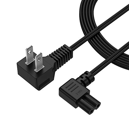 BENSN 2-Prong AC Wall 2 Slot Power Cord L-Type for Samsung,Lg LED LCD TV Smart Monitor, Compatible Xbox One-S X, PS5 PS4 HP Envy Canon Epson Slim Console Cable