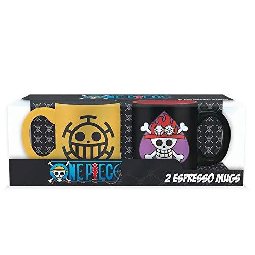 One Piece Ace & Trafalgar - Juego de tazas pequeñas (cerámica, capacidad:...