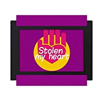 女性女神の恋人盗み デスクトップフォトフレーム画像ブラックは、芸術絵画7 x 9インチ