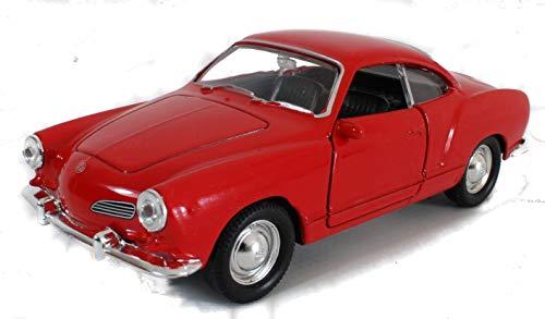 Modellauto Karmann GHIA / 1:34 / ca. 11 cm / mit Rückzugsantrieb / Zwei Farben / Rot oder Blau / Zufallsauswahl / Karman
