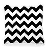 Fantastic Fairy Funda de Almohada Cuadrada Suave 20x20 patrón de geometría Moderna Negro Blanco Abstracto geométrico Monocromo de Moda Textura Retro hogar