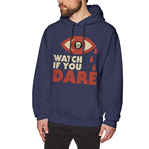 Chelsse Sweatshirt Sports Men's Adult Sweatshirts Hoodie Pullover Watch If You Dare Long Sleeve Loose Crew Neck Drawstring Top T Shirt