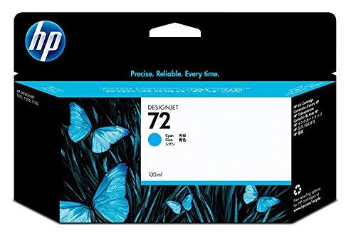 HP 72 Cyan Original Druckerpatrone mit hoher Reichweite (130 ml) für HP DesignJet