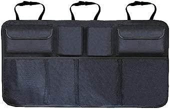 منظم صندوق السيارة قابل للتعديل لحقيبة تخزين المقعد الخلفي بشبكة عالية السعة متعدد الاستخدامات أكسفورد للسيارة، منظم ظهر المقعد العالمي