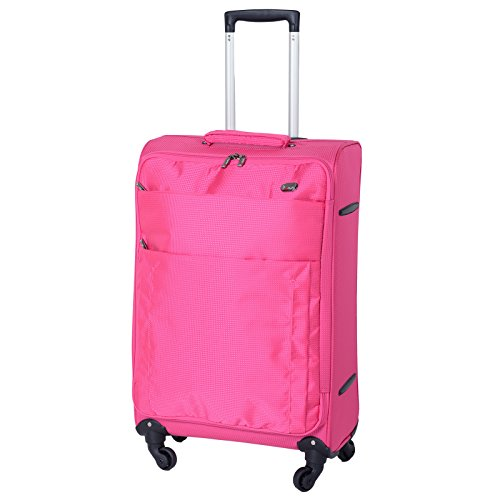 JAM Voyager 19' Pink Super Light Trolley Case Wheeled Travel Suitcase Luggage
