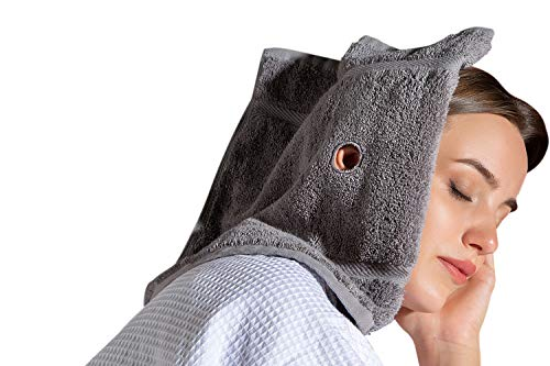 Ear Candling Treatment Towel, Gray. Please Note, Ear Candles not Included