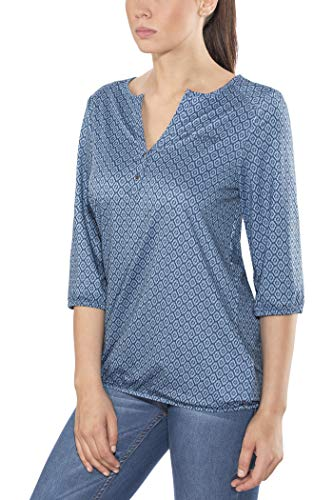 Maier Sports Damen Doora W Funktionsbluse, Blue Allover, 40