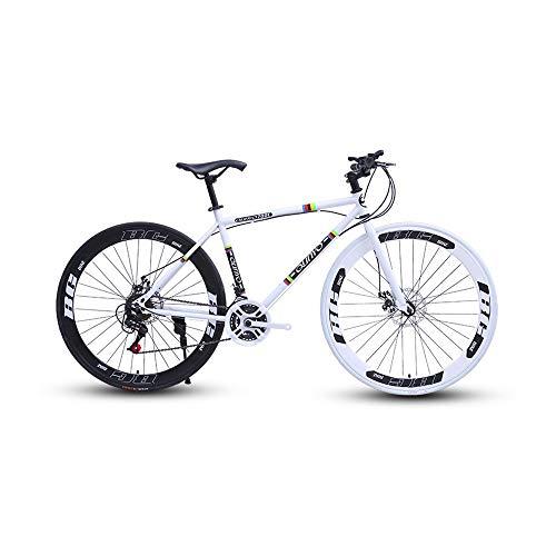 New LRHD Straight Handle Variable Speed Bicycle Road Racing Car Road Bicycle, 27-Speed 26 Inch Bikes...