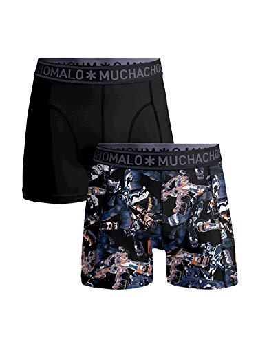 Muchachomalo 2er Pack Herren Boxershorts Gadget Print, Größe:L