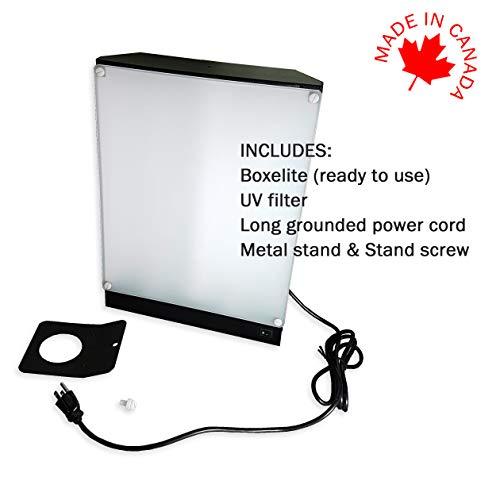 Boxelite 10,000 Lux Bright Light Therapy Light Box, Black