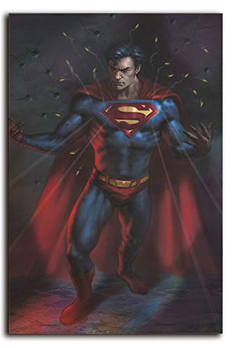 Megiri Arte de pared de superhéroe, superman inevitable Comics pintura de arte sobre lienzo para decoración del hogar, decoración de pared de 50,8 x 71,1 cm, sin marco
