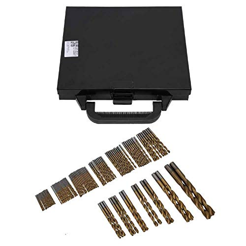 Drill Bit Set, 99Pcs Twist Drill Bit Set, High‑Speed Steel Hand Electric Drill Round Shank Bit 1.0‑3.0mm, with Fast Penetrating, Less Pressure and Long Service Life