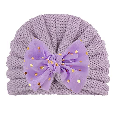 Cinta elástica multicolor con diseño de flores para el pelo, pajarita y lazo, para niños, bebés, niños, niñas, gorro elástico (C, talla única)