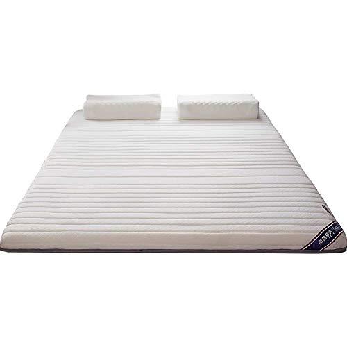 HEWEI Latex hybride matras super-zachte ademende tatami matras traagschuim matras voor een tweepersoonskamer in de kamer met stapelbed kinderkamer (kleur: wit grootte: 150 x 190 cm (59 x 75 inches))