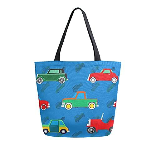 COZYhome - Bolsa de lona para coche, camión, reutilizable, bolsa de hombro, para mujer, trabajo, escuela, etc