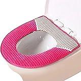 Housse de Siège de Toilette Multicolore Chaud Protection Housse de Cuvette Couverture Toilette Siège Housse WC Couvercle Toilette Siège Housses d'abattants WC