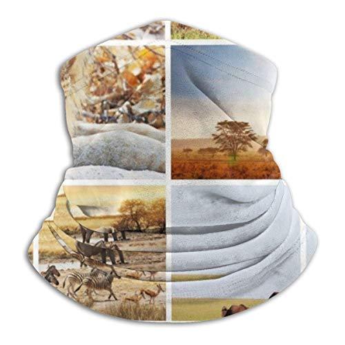 Calentador de Cuello Rompecabezas de Vida Silvestre rústico Calentador de Cuello Pasamontañas a Prueba de Viento Capucha de Lana Sombreros de Invierno UV Gratis