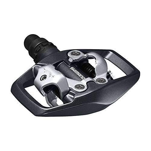 Motodak MTB pedalen, automatisch, Shimano pd-ed500, dubbele vergrendeling met zwart platform, met wiggen (paar)