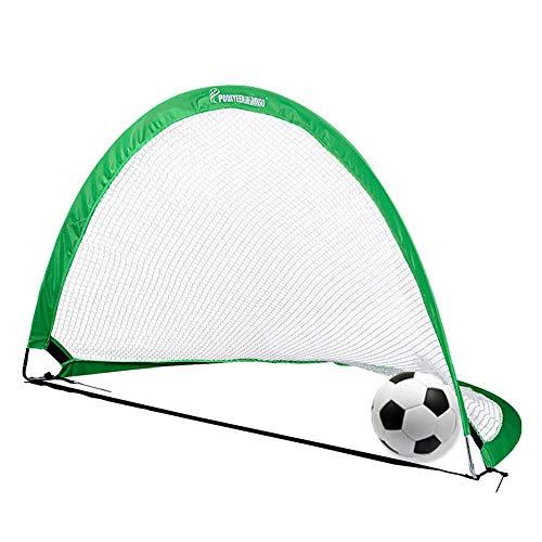 Zuqiudashi Niños Pop up Fútbol Objetivo Deporte Entrenamiento Patio de recreo, 48x30x30 en semicírtbol Plegable portátil GOL de fútbol