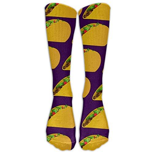 Yummy Taco Unisex Funny Pattern Crew Socks Chaussettes de compression pour garçons et filles