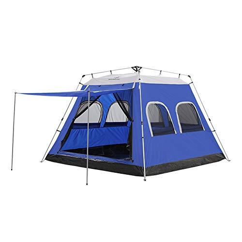 PLEASUR pop-up automatische tenten, 4-5 personen familietent shelter draagtas waterdicht sport backpacking voor reizen strand camping outdoor picknick wandelen, hemelsblauw