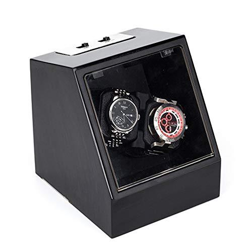 Soporte de reloj Minador de relojes - 2 + 0 Negro Automático Reloj mecánico Caja de bobinado Motor Turn Turny Dispositivo de reloj MOVER ROTOR WATCH SHAKER Caja de almacenamiento Titular de la pantall