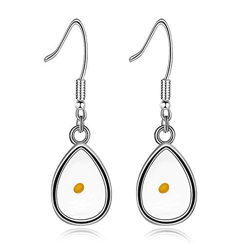 Uloveido Teardrop Pendant Mustard Seed Earings for Women, Stainless Steel Tear Drop Dangle Earrings for Girls Y582 (Drop)