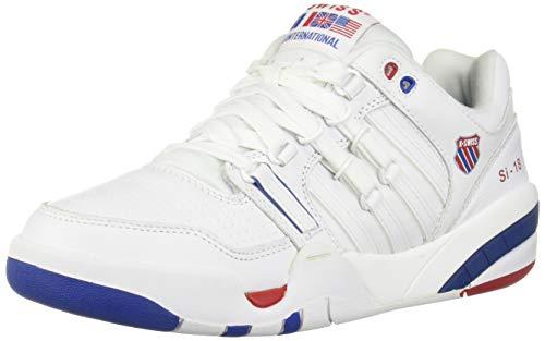 K-Swiss Herren SI-18 INTL HERI Sneaker, Weiß (White/Classic Blue/Ribbon Red 130), 44.5 EU