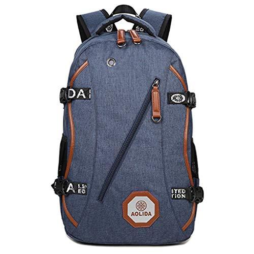 オックスフォードバックパック防水大容量屋外のトラベルバッグスクールバックパック HMMSP (Color : Blue)
