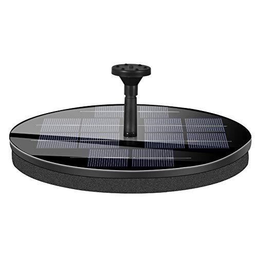 josietomy Bomba De Fuente Solar Kit De Bomba De Agua con Energía Solar Redonda Impermeable para Piscina De Estanque De Pájaros Piscina Jardín 9V2.4W
