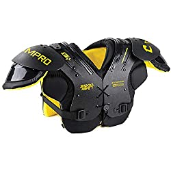 cheap CHAMPRO Shockwave Shoulder Pads, Black, Optical Yellow, 100-130 lbs (FSPS130)