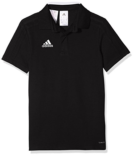 adidas Con18 Co Polo Y Polo Shirt, Unisex niños, Black/White, 7-8Y