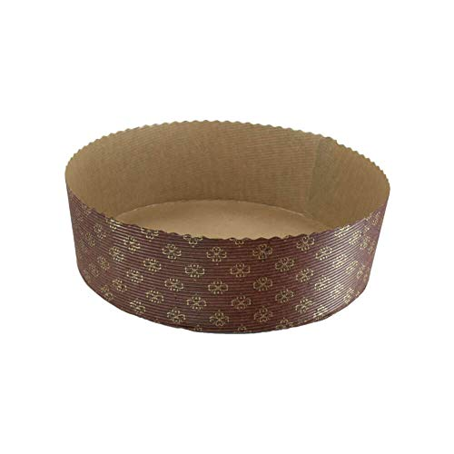 Round Paper Baking Cake Pan, Disposable Baking Mold 12ct, All Natural Recyclable, Microwave Oven & Freezer Safe, Providing Beautiful Display For Baked Goods. (8-5/8' x 2-3/4')