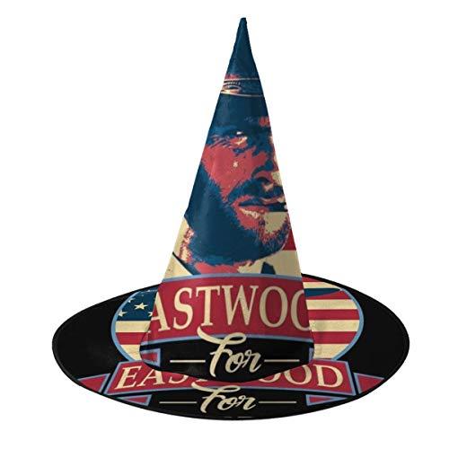 OJIPASD Clint Eastwood - Sombrero de Bruja para Presidente de Halloween, Unisex, Disfraz para Vacaciones, Halloween, Navidad, Carnaval, Fiesta