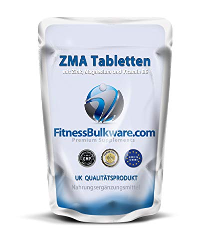 ZMA Tabletten ZINK MAGNESIUM - 1000 Tabletten - Stärkung des Immunsystems - made in UK