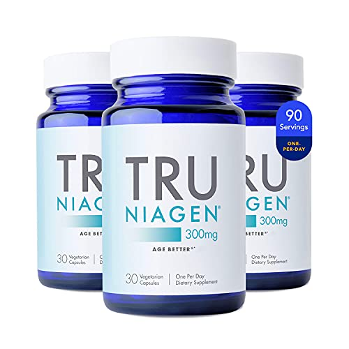 Patented NAD+ Supplement More Efficient Than NMN - Nicotinamide Riboside for Energy, Metabolism Booster, Vitality, Muscle Health, Healthy Aging, Cellular Repair - 30ct - 300mg (3 Months / 3 Bottles)