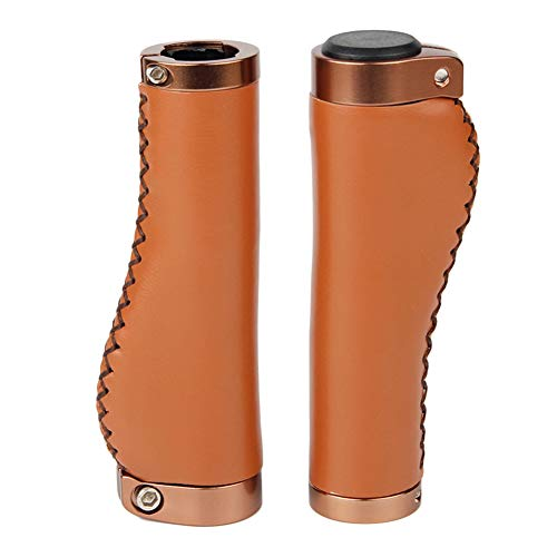 1 par de cubiertas de cuero sintético para manillar de bicicleta de montaña, accesorio suave para manillar de bicicleta de montaña, 1 par de piel sintética