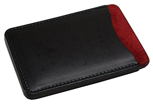 KC,s Leather GENUINE COWHIDE PASS CASE NO.1 COWHIDE Handmade In Japan Black
