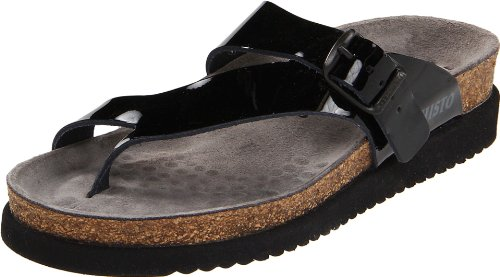 Mephisto Women's Helen Sandals Black Patent Leather 40 (US Women's 10)