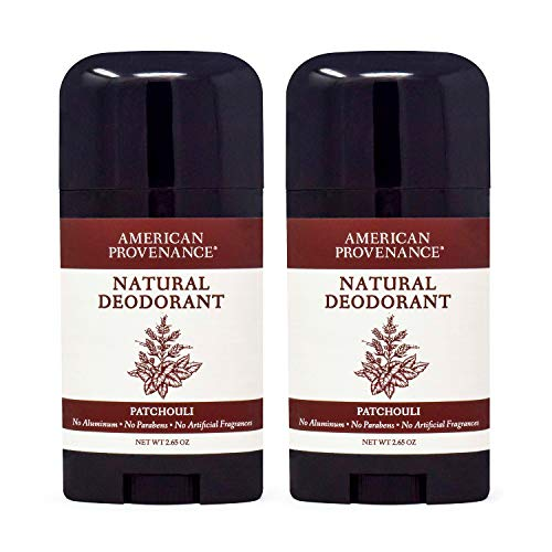 2-Pack Patchouli American Provenance All Natural Aluminum-Free Deodorant for Men and Women