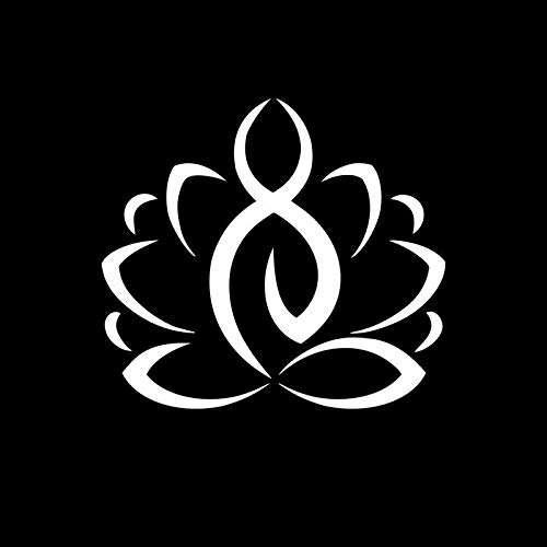 Lotus Yoga Silhouette Vinyl Decal Sticker | Cars Trucks Vans SUVs Walls Cups Laptops | 5.5 Inch | White | KCD2715