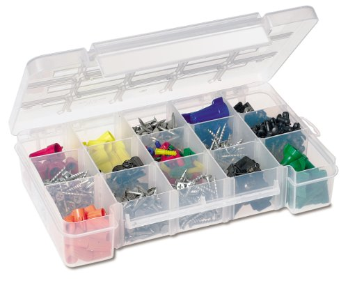 Akro-Mils 05805 Plastic Portable Parts Storage Case for Hardware and Crafts