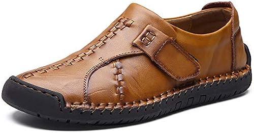 LOVDRAM Chaussures Hommes Chaussures Chaussures Hommes Chaussures De Ville Basses Aider à La Mode Chaussures De Conduite Sauvage