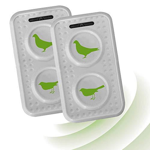 ISOTRONIC mobiler Tauben/Vogelschreck mit Ultraschall mit ON-Off-Schalter für Scheune, Garten, Auto und Garage, besonders hohe Töne, Wechselfrequenz gegen Gewöhnungseffekt, batteriebetrieben (2)