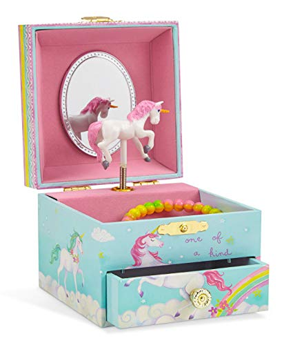 Jewelkeeper Musical Jewelry Box, Unicorn Rainbow Design with Pullout Drawer, The Unicorn Tune 3