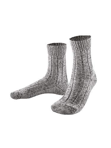 Almbock Bergsteiger Socken - Outdoorsocken Merino Schurwolle - Wollsocken grau in Gr. 44/45