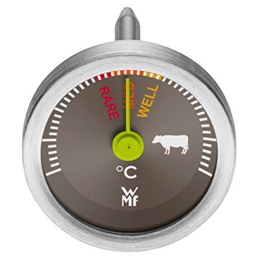 WMF Steakthermometer analog, 2,6 cm, Fleischthermometer mit Garpunkte-Markierungen für rare, med, well, Bratenthermometer